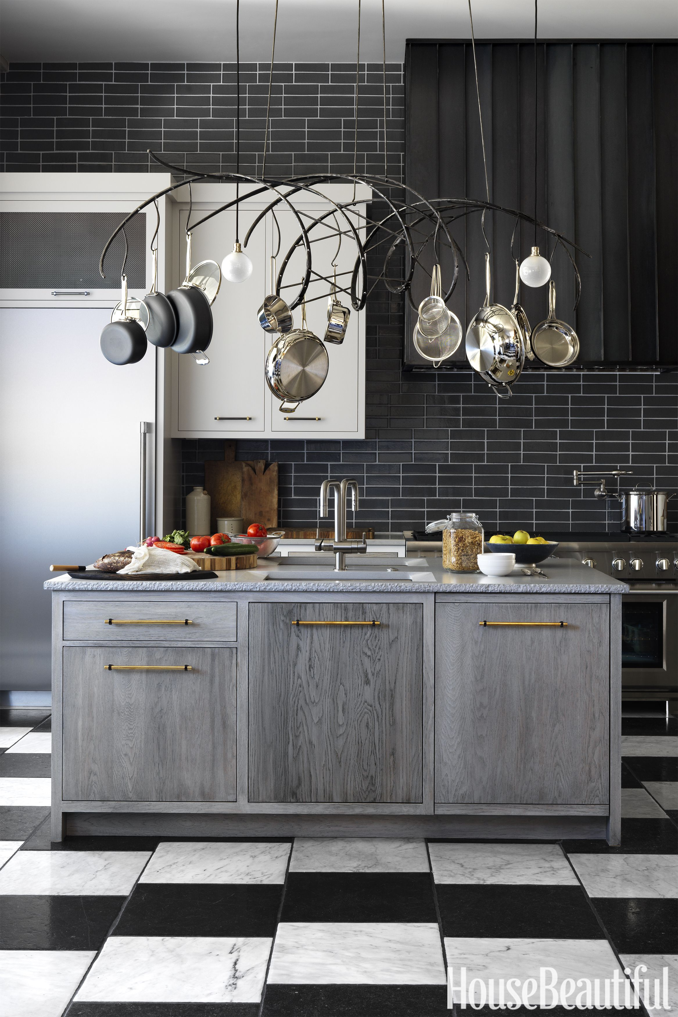 jon de la cruz kitchen of the year kitchen island & Best Kitchen Backsplash Ideas - Tile Designs for Kitchen Backsplashes