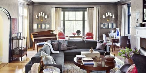 Modern Living Room Ideas Grey 10 stylish gray living room ideas - decorating living rooms with gray