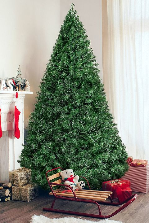 best choice products 6 premium hinged artificial christmas pine tree - Decorated Artificial Christmas Trees