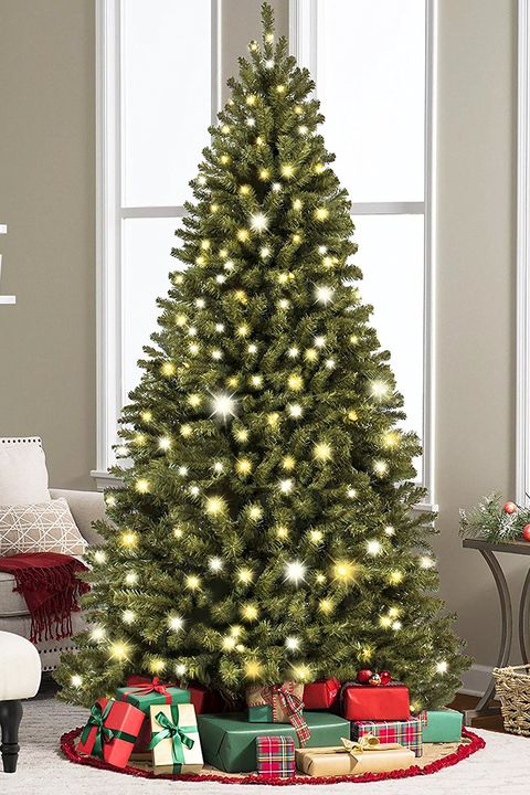 best choice products prelit premium spruce hinged artificial christmas tree - Real Looking Artificial Christmas Trees