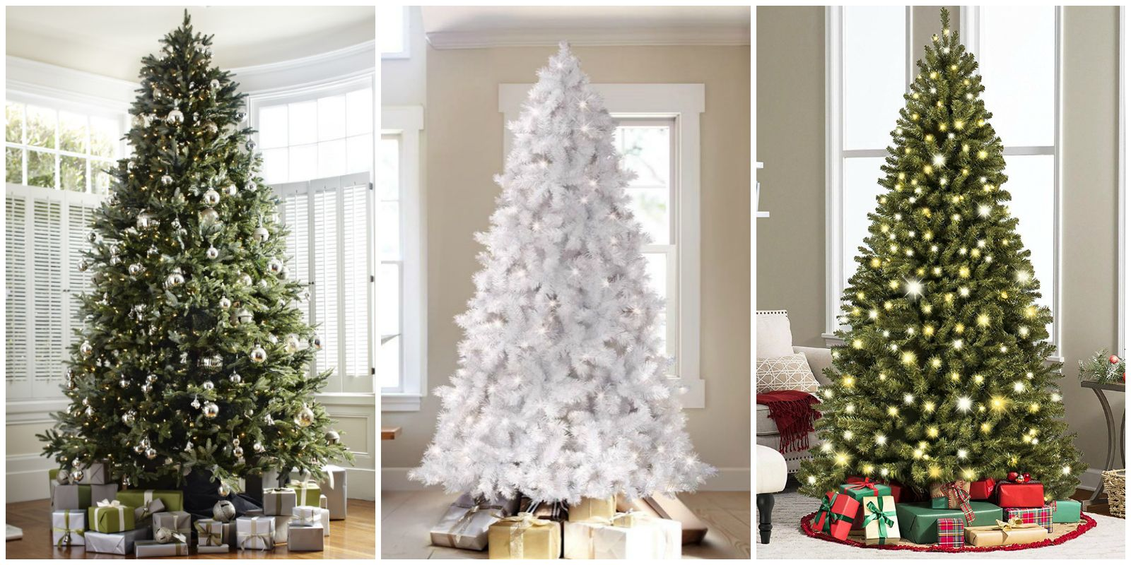 12 best artificial christmas trees fake holiday trees - Half Wall Christmas Tree