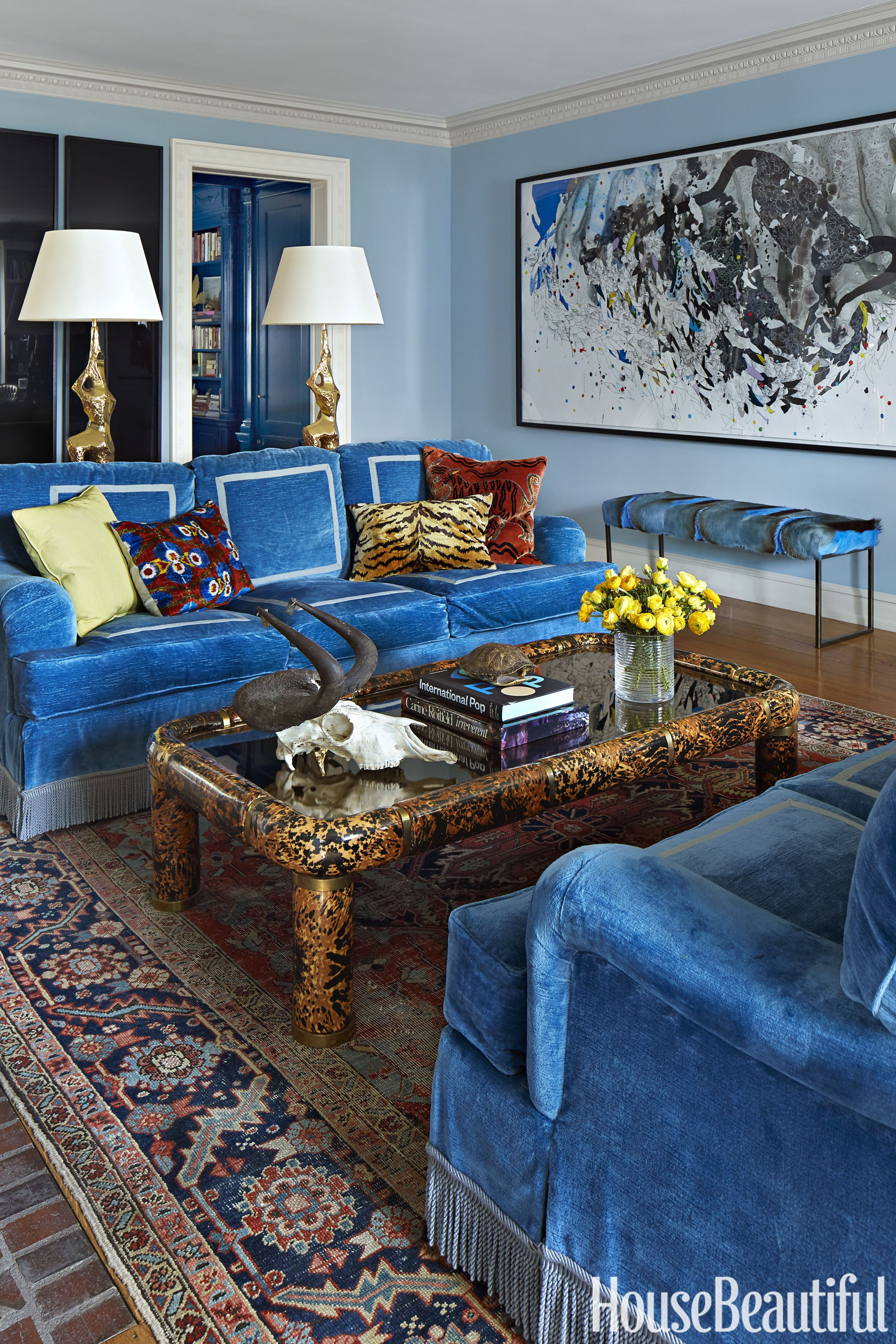 Decor Ideas For Light And Dark Blue Rooms, Blue Living Rooms