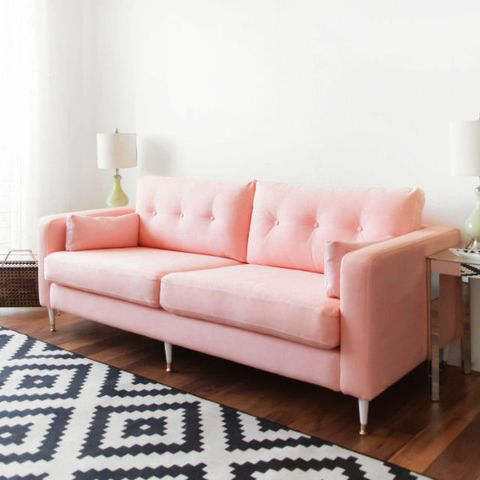 Woman turns cheap IKEA sofa into *the* couch of dreams for €250 | Her.ie
