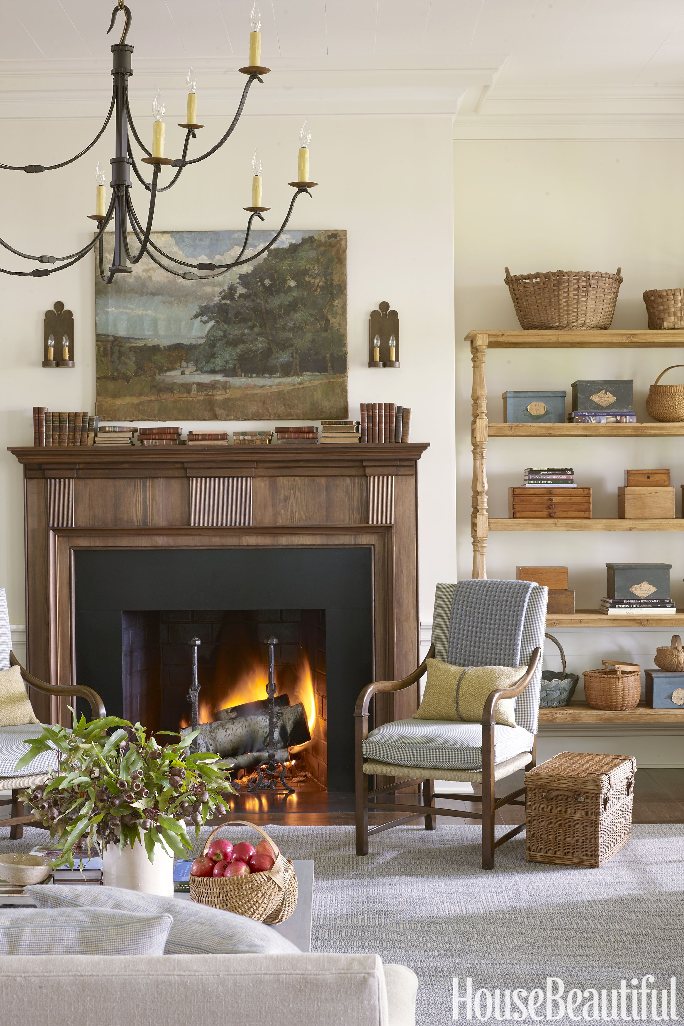 15 Cozy Fireplace Ideas   Best Fireplace Mantel Designs, Tips, And Photos