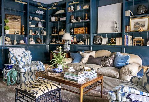 Allison Allen Brings Bold Color To This Atlanta Library Redo - Allen Home Interiors