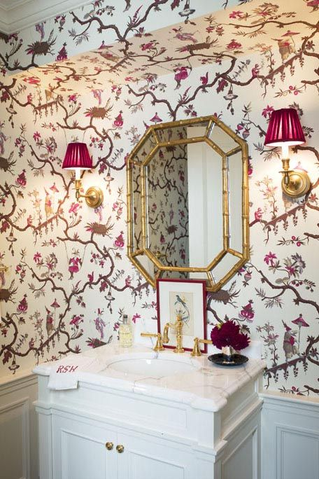Pink, Room, Wallpaper, Interior design, Property, Wall, Material property, Furniture, Architecture, Curtain,