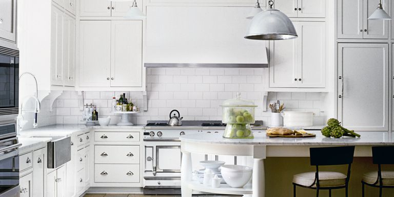 10 White Kitchen Design Ideas - Decorating White Kitchens