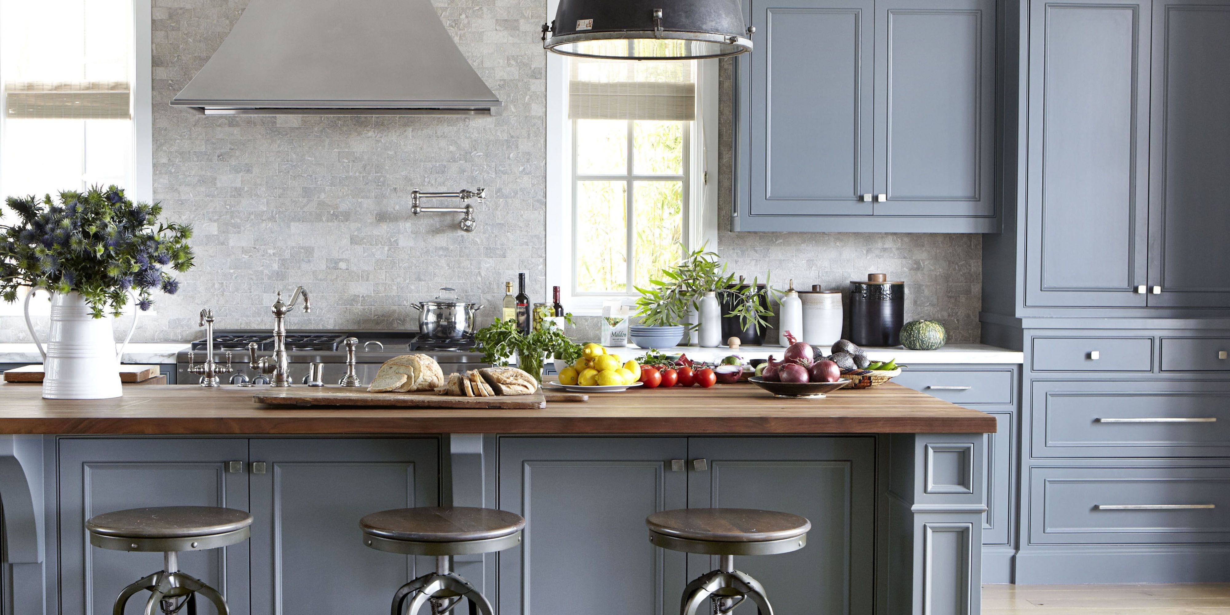gray kitchen & 14 Best Kitchen Paint Colors - Ideas for Popular Kitchen Colors