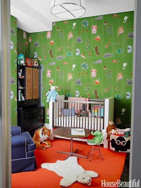 green and orange nursery