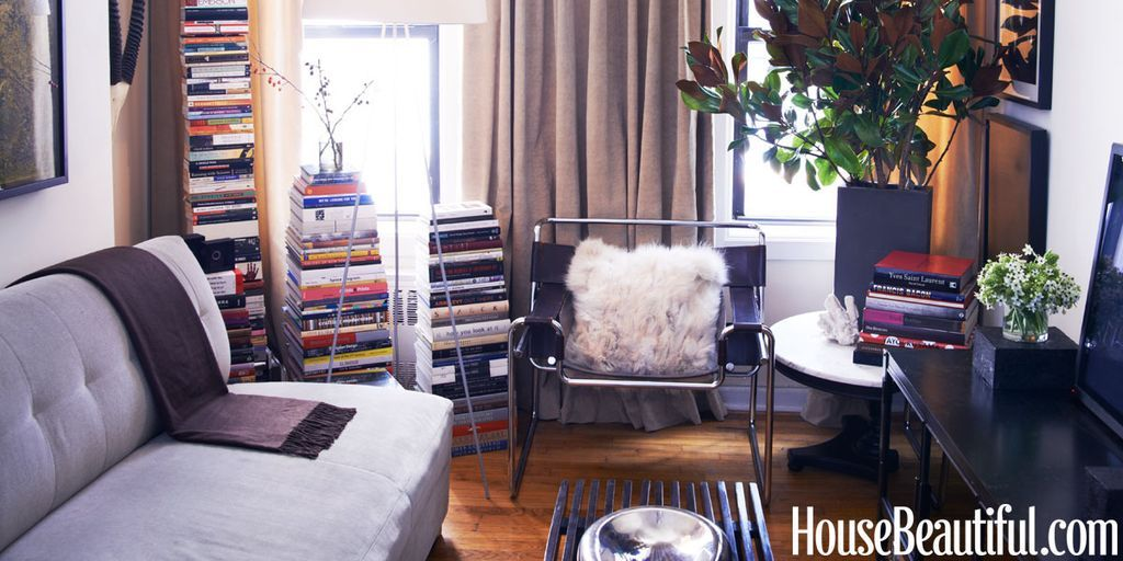stacks of books & James Erwin Cull Apartment - Designers at Home