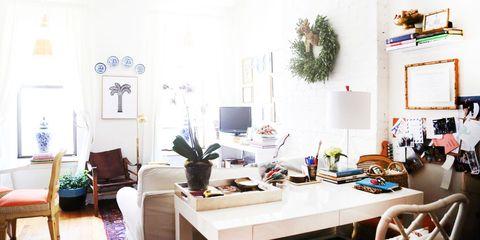 Room, Interior design, Table, Furniture, Interior design, Home, House, Lamp, Houseplant, Desk,