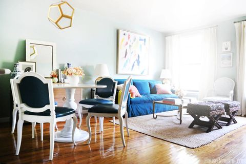 Wood, Blue, Room, Floor, Interior design, Flooring, Home, Living room, Furniture, White,