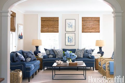 Top Pin of the Day: A Blue and White Family Room