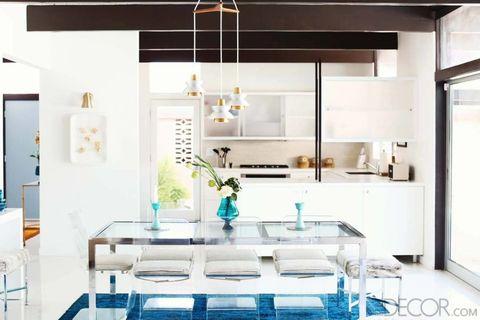 Interior design, Room, White, Ceiling, Light fixture, Glass, Floor, Interior design, Turquoise, Teal,