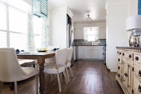 Room, Wood, Interior design, Floor, Flooring, Furniture, Drawer, Home, Cabinetry, Interior design,