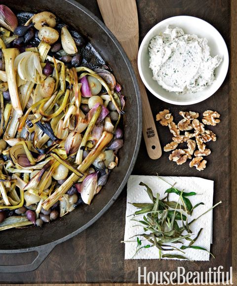 Roasted onion recipe todd english recipe six onion roast with goat cheese and walnut crema forumfinder Gallery