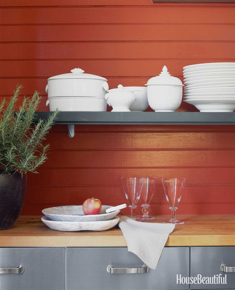 red paneled wall