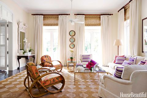 purple striped pillows