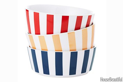striped dog bowls