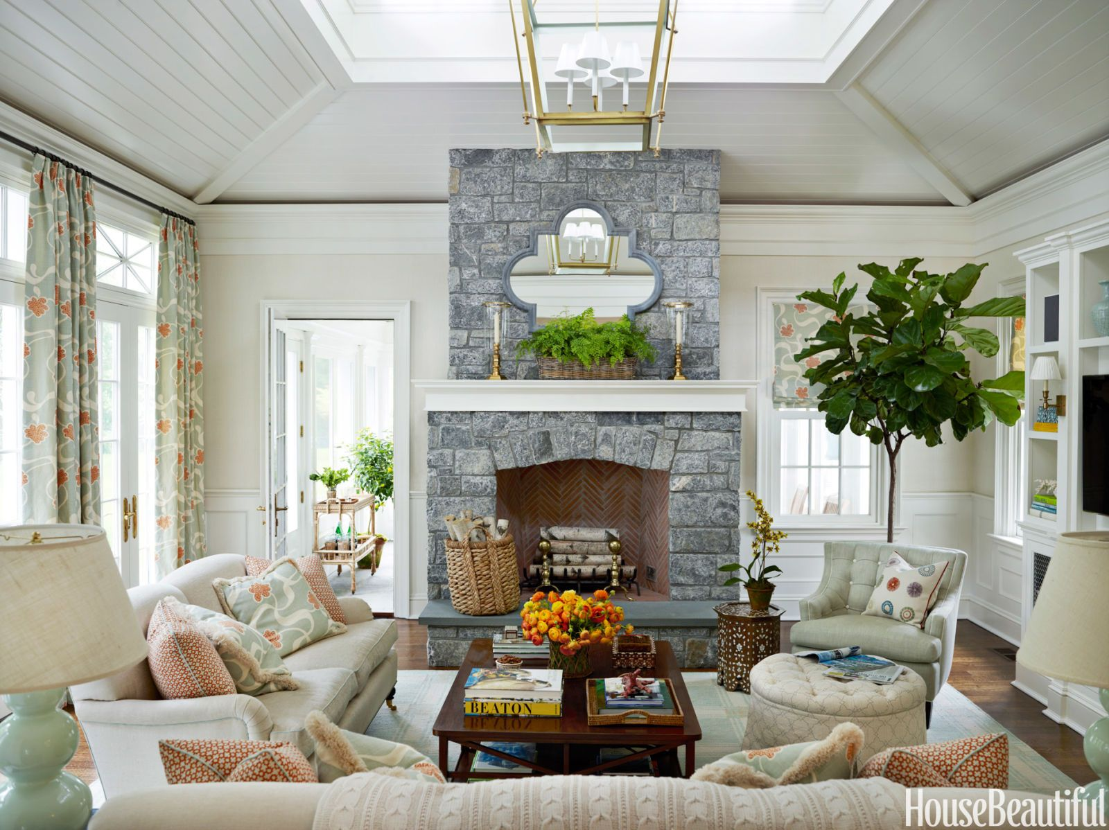 Pale Blue Family Room