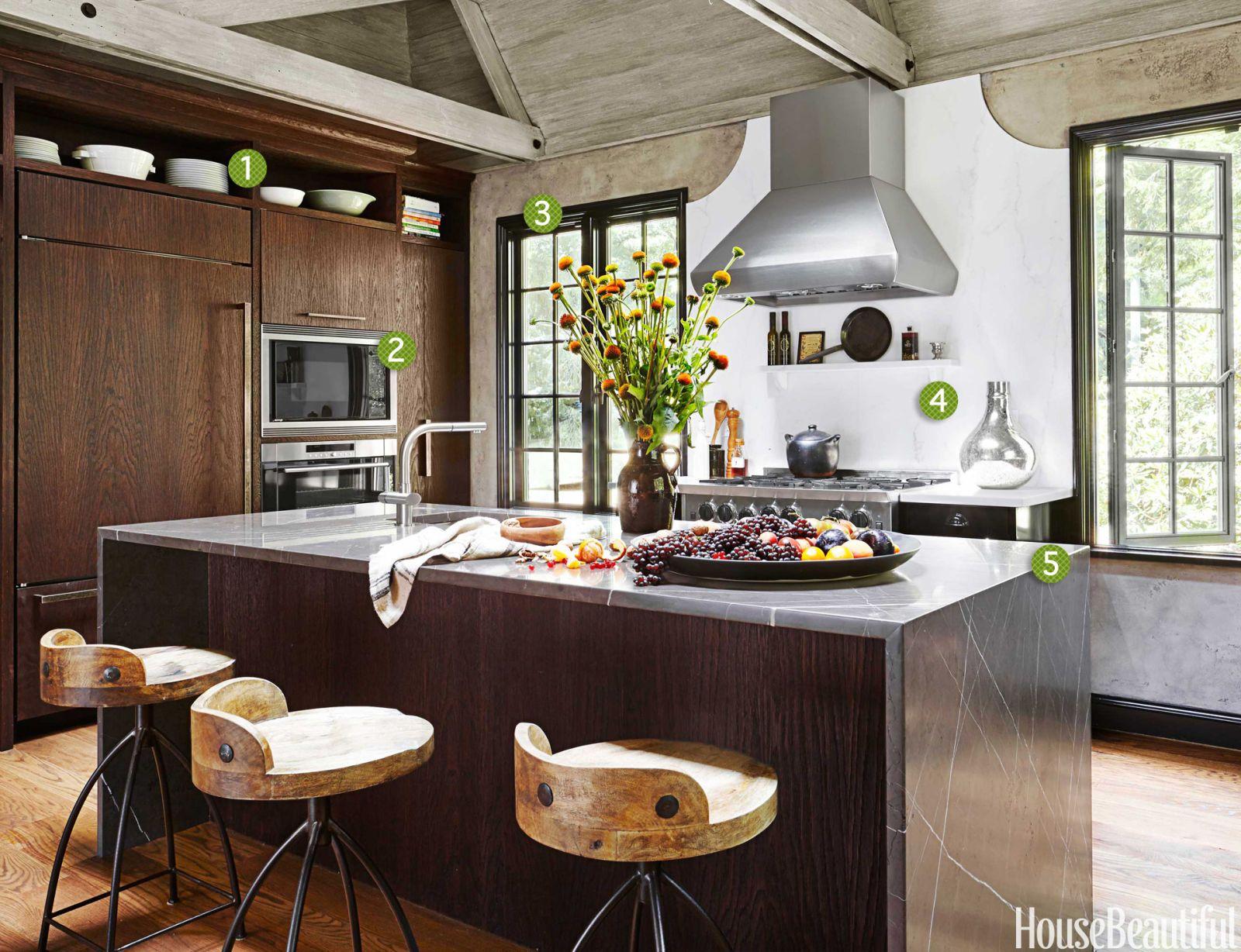 dark wire brushed cabinets & Rustic Modern Kitchen - Rustic Modern Decor