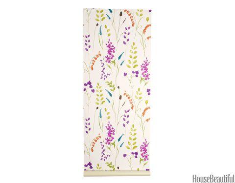 modern field flowers wallpaper