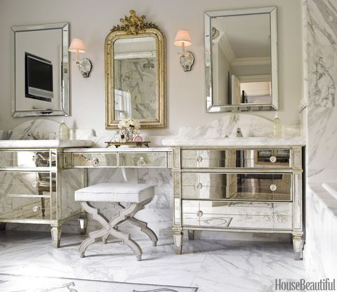 Top Pin of the Day: A Glamorous Mirrored Bathroom Vanity