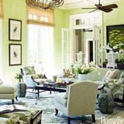 bright green sunroom walls