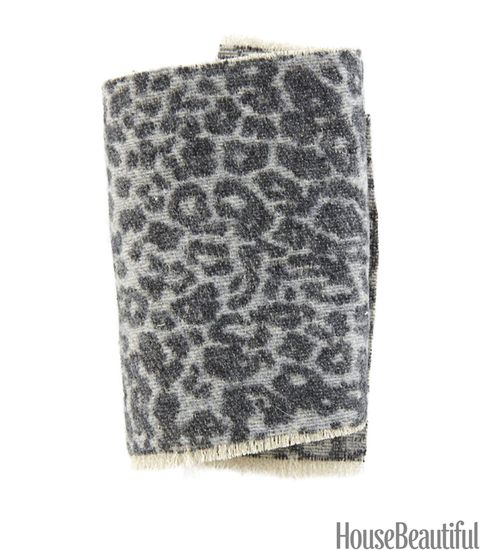 gray leopard fabric