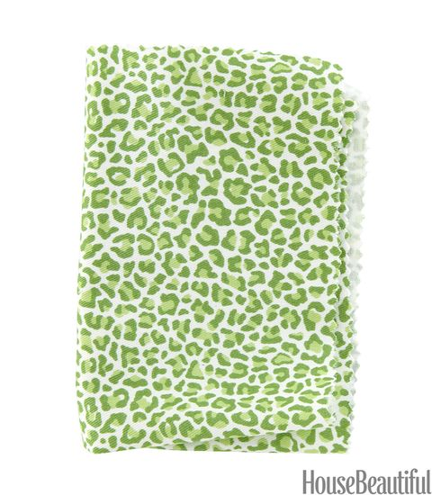 green leopard fabric