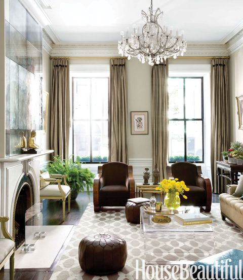 38 Elegant Living Rooms That Are Brilliantly Designed: Brownstone Decorating Ideas