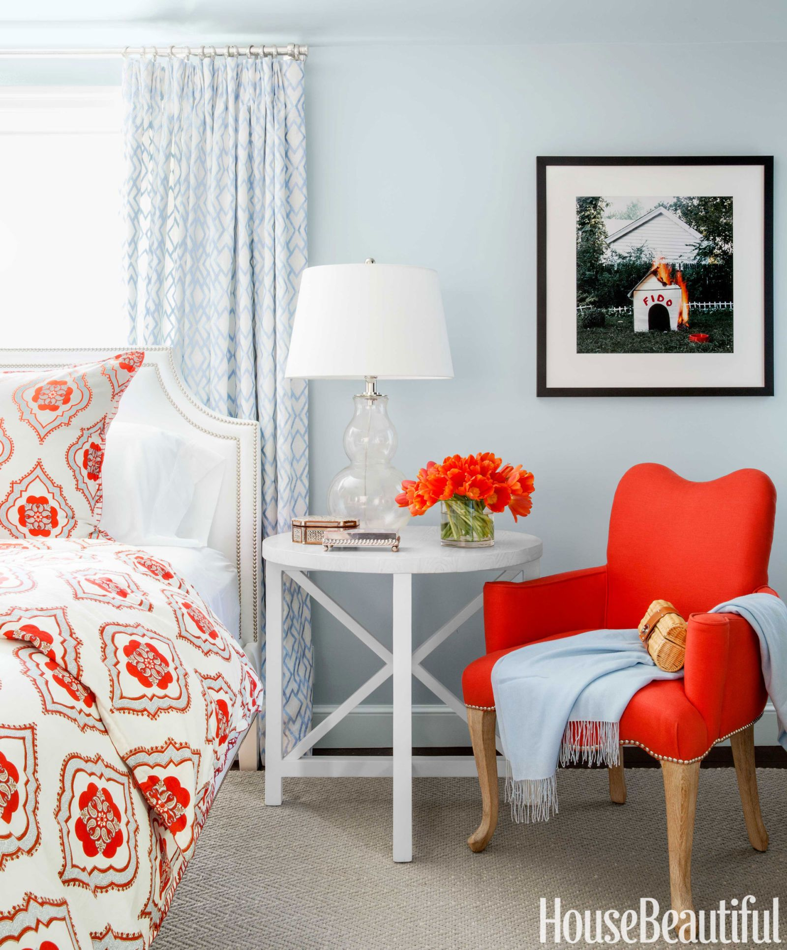 Top Pin of the Day: A Happy and Colorful Bedroom