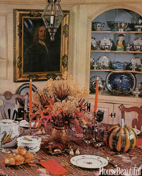 Feast Your Eyes Gorgeous Dining Room Decorating Ideas: Vintage Thanksgiving Tables