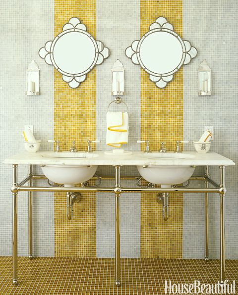 yellow stripe tile