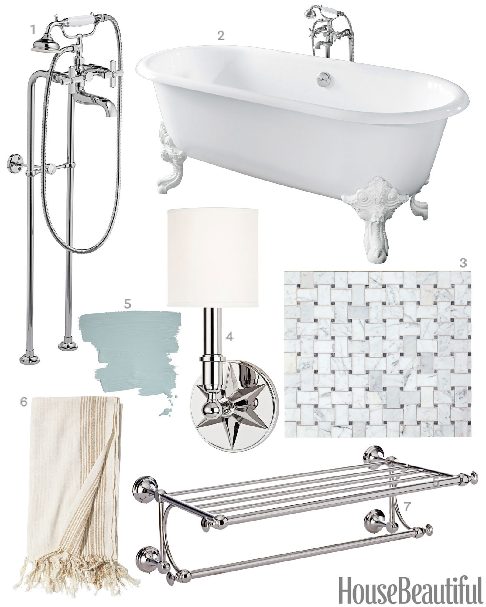 get the look vintage bathroom