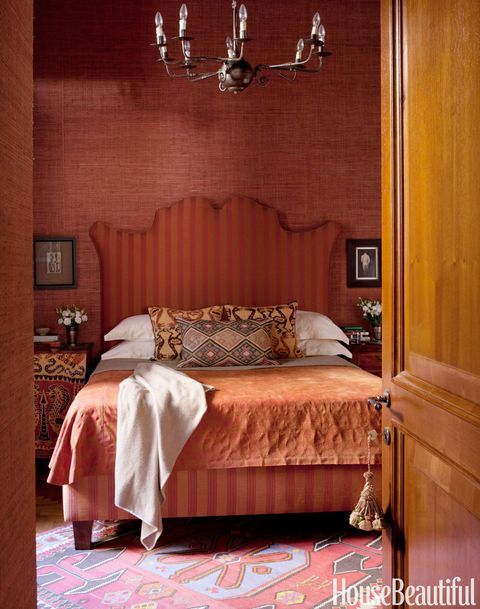 rust red bedroom