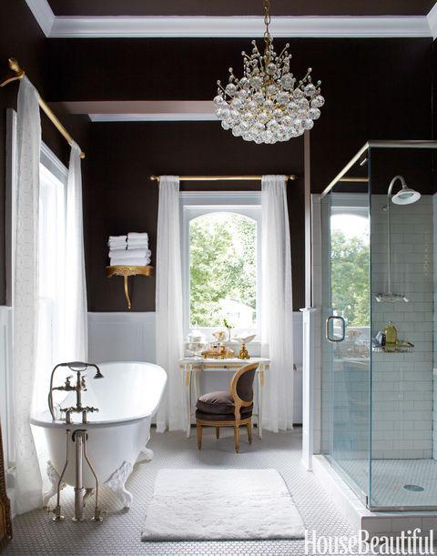 Blue, Interior design, Room, Architecture, Floor, Property, Plumbing fixture, Flooring, White, Bathroom sink,