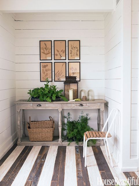 brown and white striped floors