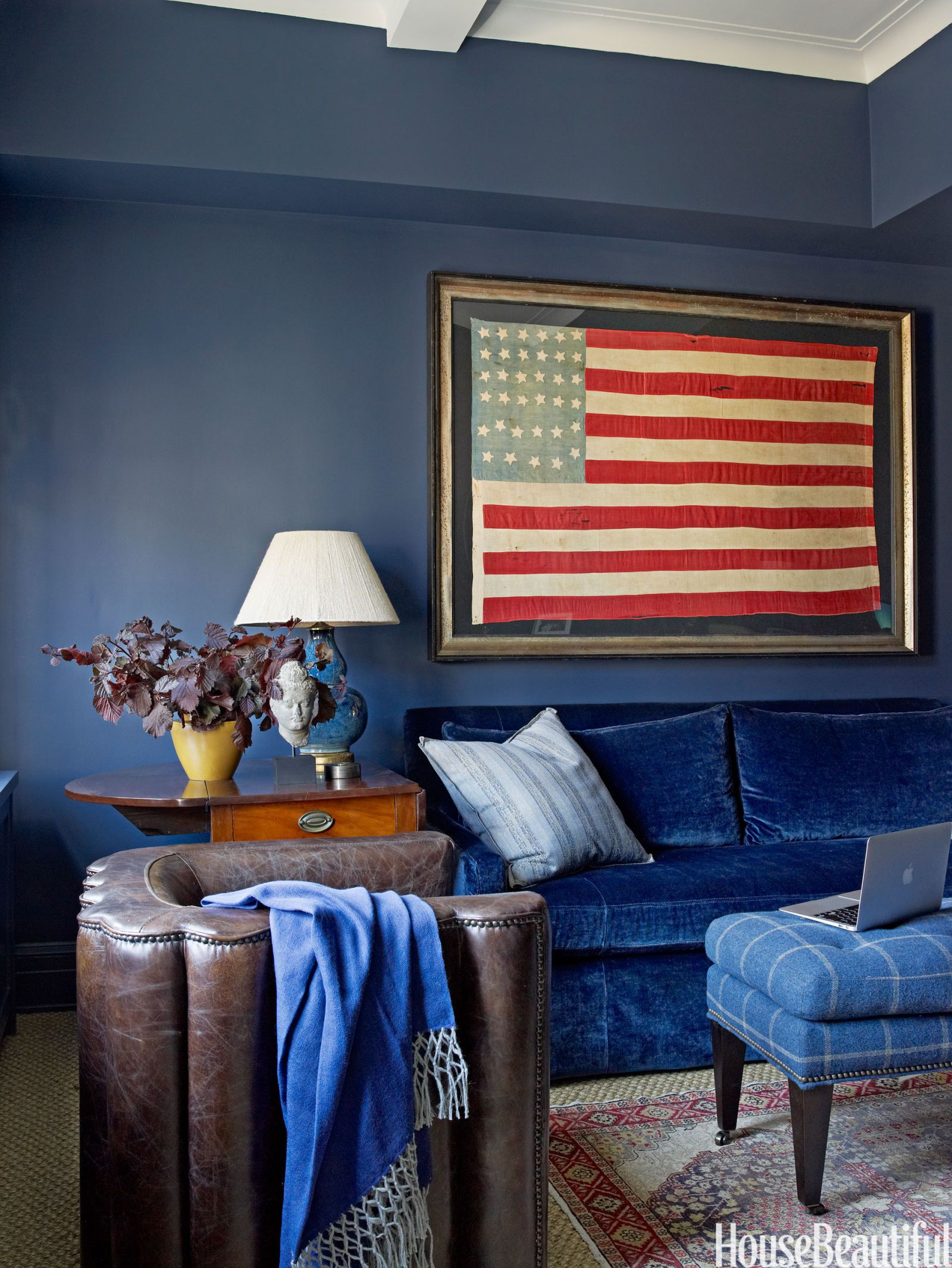 civil war era flag & Patriotic Decor for 4th of July - Red White and Blue Decorating Ideas