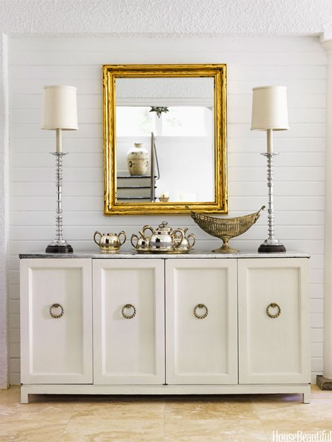 silver leafed sideboard