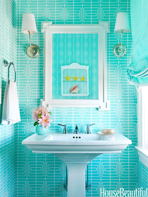 turquoise geometric wallpaper