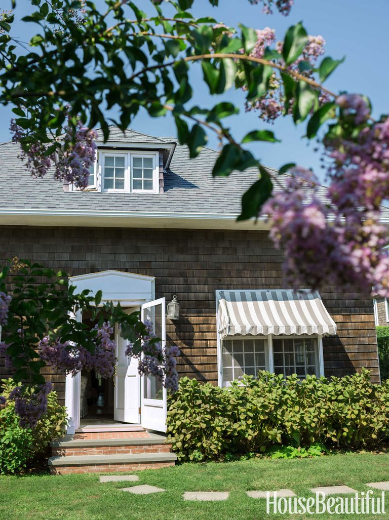 Garage turned into house decorating with chintz - Garage turned into house ...
