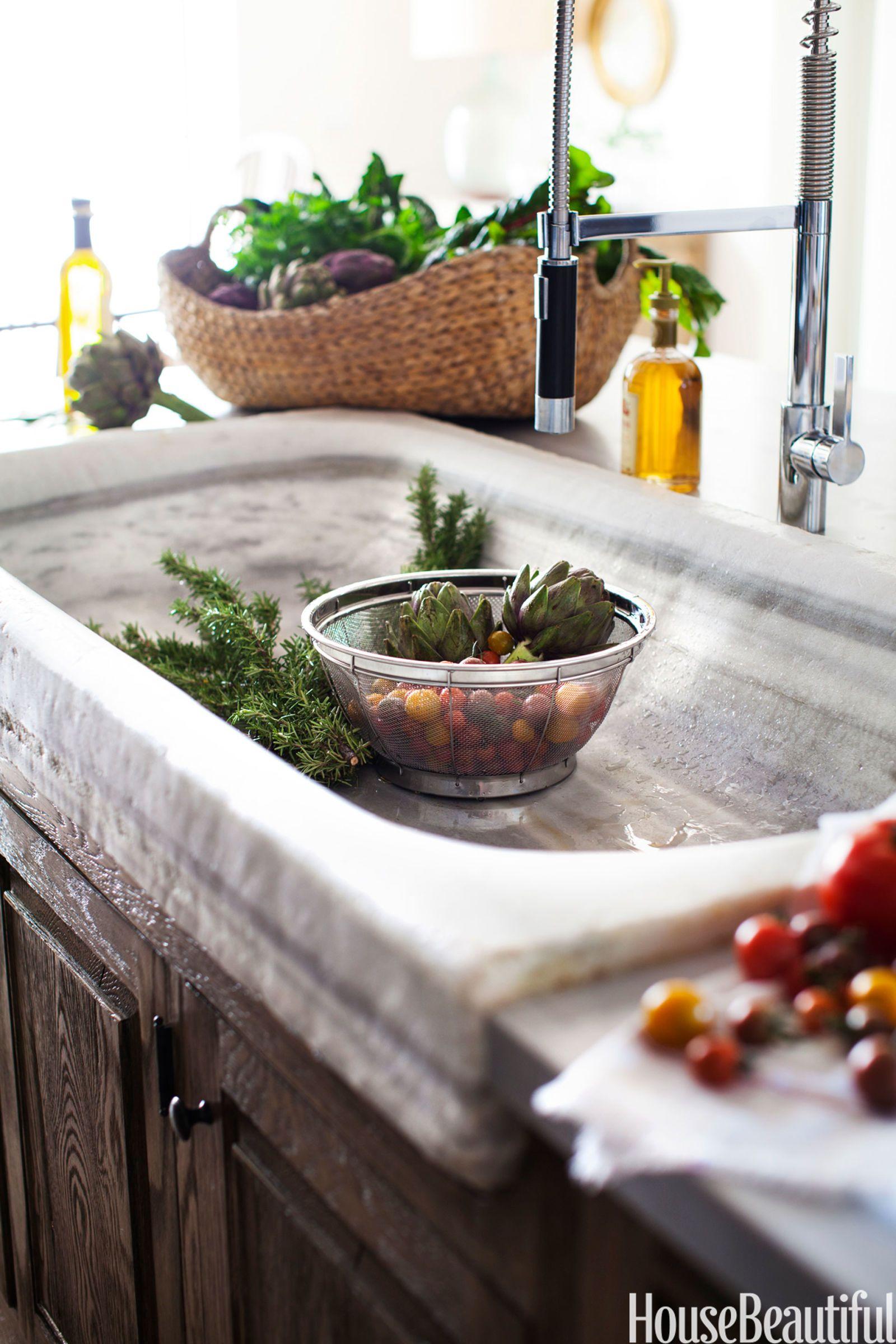 stone kitchen sink