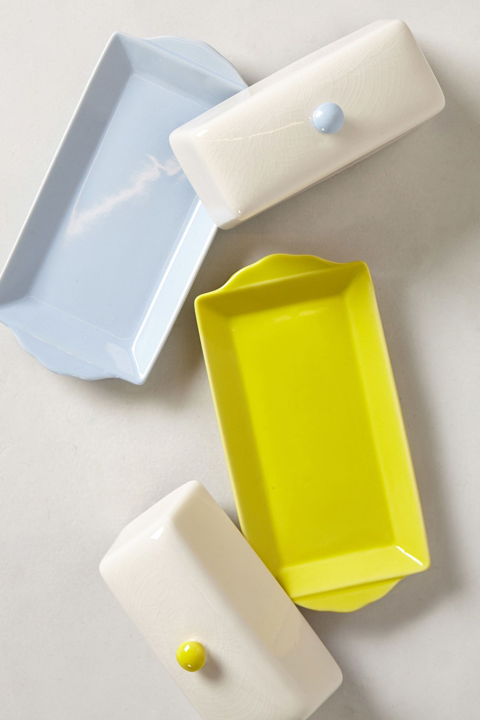 colorful butter dish
