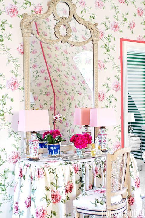 floral vanity