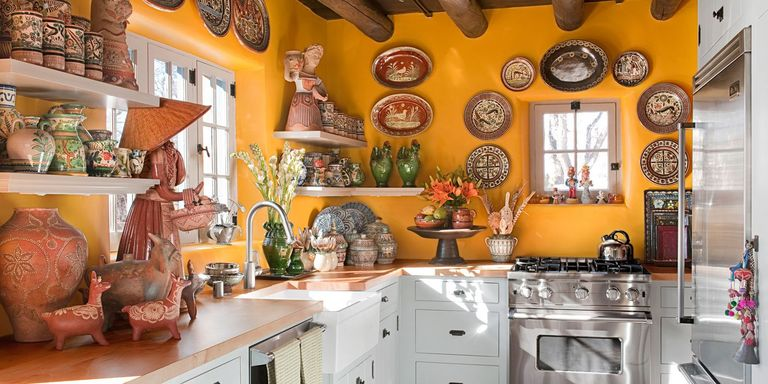 Yellow Kitchen with Santa Fe Style - Southwest Kitchen Decor