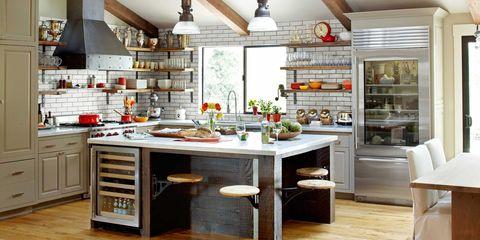 glazed brick kitchen tiles
