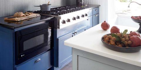 A Blue and White Farmhouse Kitchen