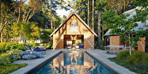 pool house ideas. Watson And Reid Embellished The Rear Facade Of British Colonial\u2013style House With A Pool Ideas