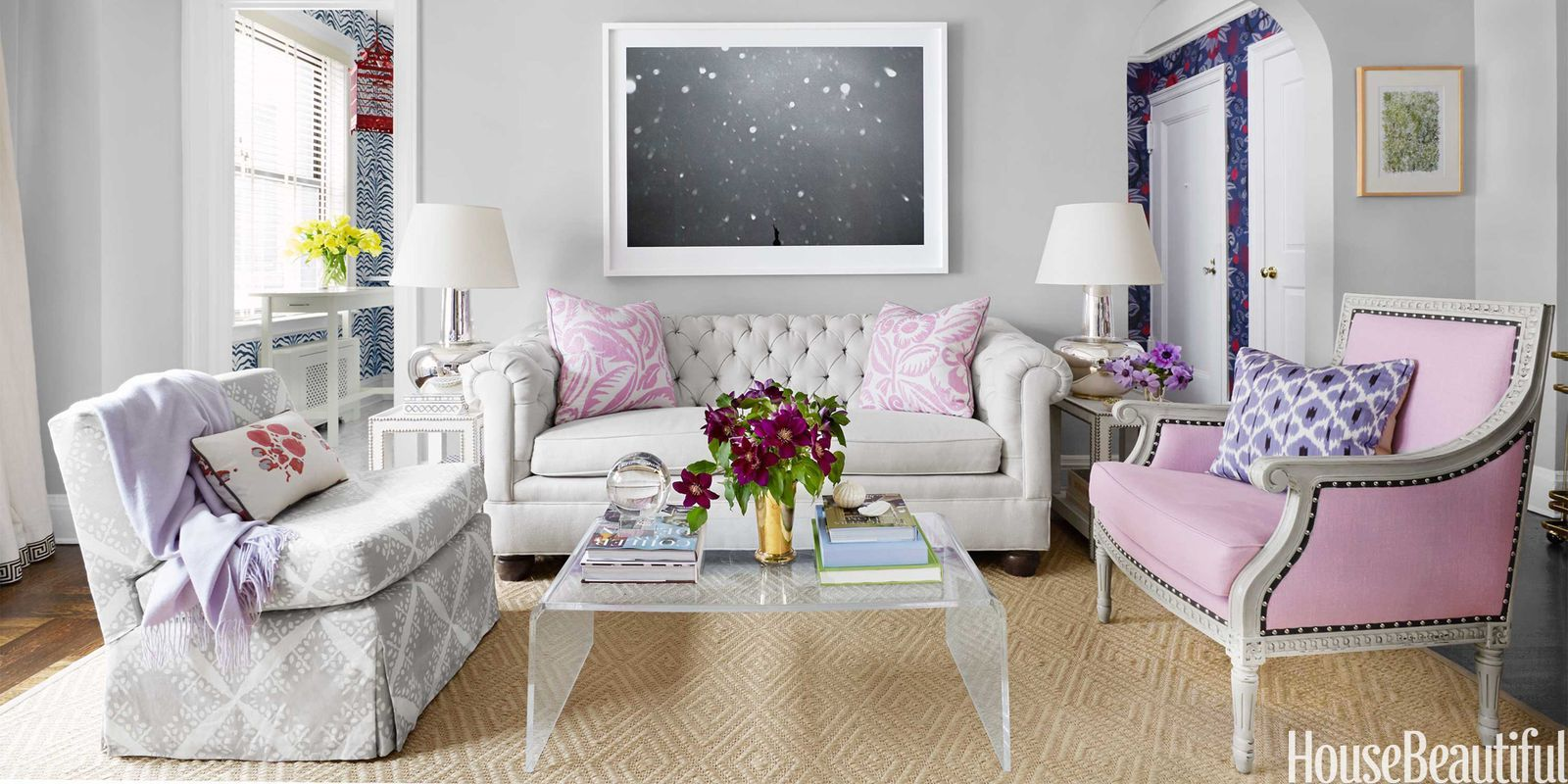 Small NYC Apartment Design Lavender Decorating Ideas
